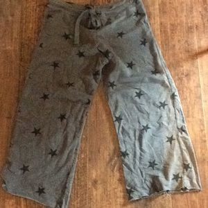 Olivaceous cropped lightweight sweats M